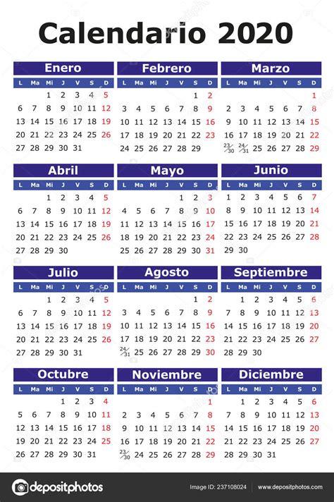 calendario vector espanol facil editar aplicar