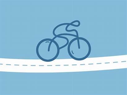 Bike Animated Tours Platform Bicycle Dribbble Animation