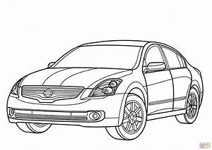 nissan altima hybrid coloring page free printable dd With white cadillac cts6
