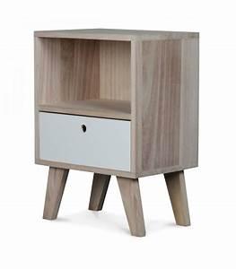 Table De Chevet Design En Bois Haut 50cm