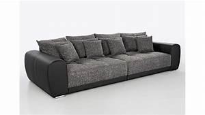 Big Sofa Grau : big sofa sam polsterm bel xxl sofa in schwarz grau 310 cm ~ Buech-reservation.com Haus und Dekorationen