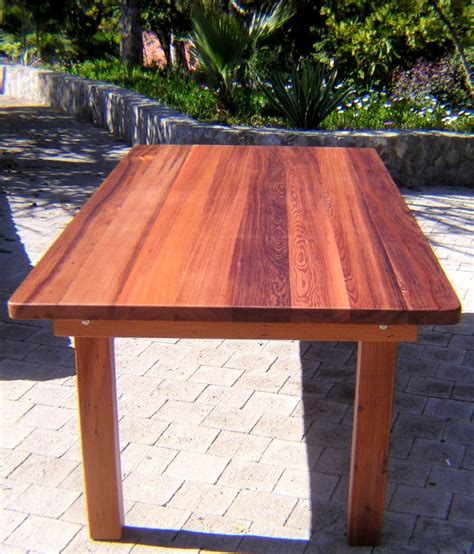 Patio Table With Bench Seating by Rectangular Wood Patio Tables By Forever Redwood This