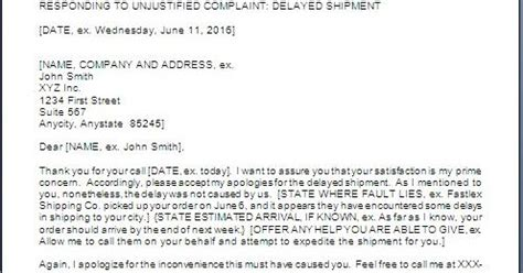 business letter apology  delay  shipment