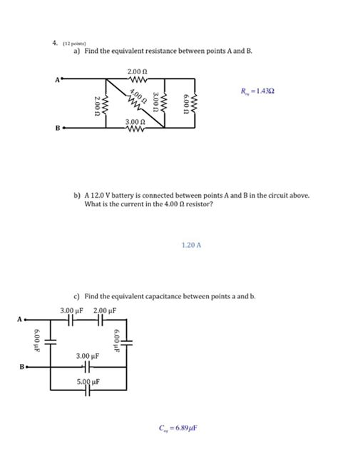 Solved Find The Equivalent Resistance Between Points