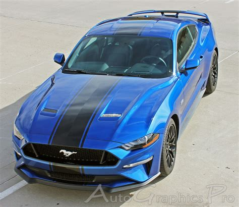 2018 2019 Ford Mustang Racing Stripes Hyper Rally Vinyl