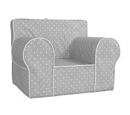 oversized anywhere chair slipcover only gray pin dot anywhere chair pottery barn