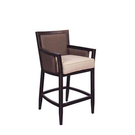 brown greystone patio high dining chair in sparrow