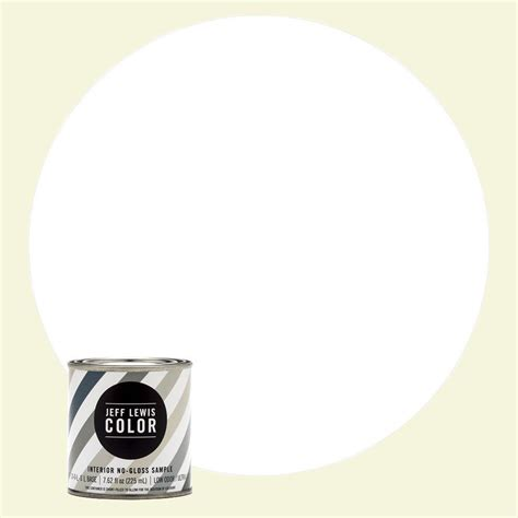 jeff lewis color 8 oz jlc610 white collar no gloss ultra low voc interior paint sle 108610