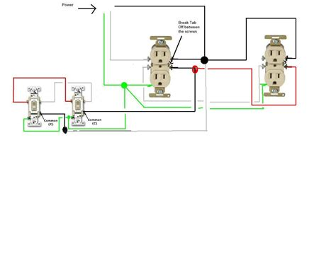 An Schematic 3 Wire Wiring Diagram by How Do I Go About Wiring Two Split Circuit Outlets