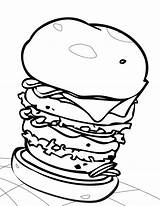 Hamburger Sheet Coloring Bbq Burger Handipoints Sheets Clipart Clipartbest Cheeseburger Slowing Down Template Sketch Sunday sketch template