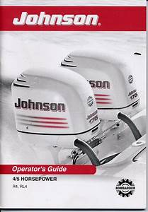 Johnson Outboard Owners Manual 2003 4hp 5hp 4