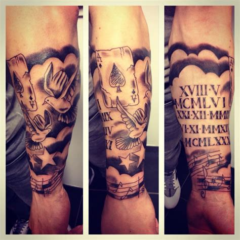 tatouage avant bras nuage et colombe by merries melody