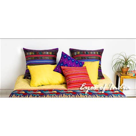 Colorful Sofa Pillows by Pink Purple Peruvian Cushions Expertly Handmade