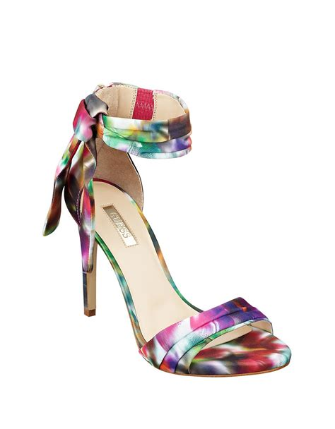 multi color strappy heels multi colored sandal heels 25 justfab shoes sold nwt