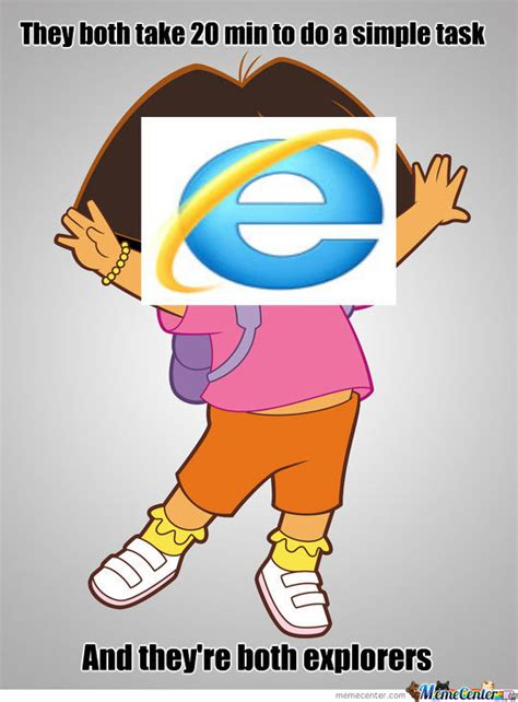 Memes Dora Explorer - dora the internet explorer by gab781 meme center