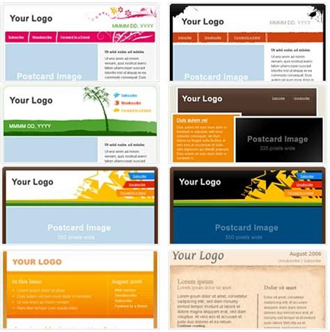 Email Template Pattern by 100 Free Html Email Newsletter Templates Patternhead