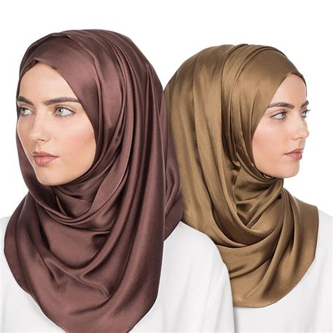 pashmina satin hijab pashmina satin kerudung jilbab