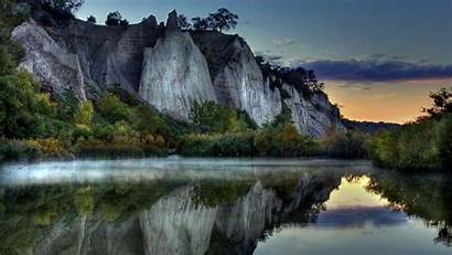 Mountain Sunset Reflection Lake Desktop Wallpapers Backgrounds