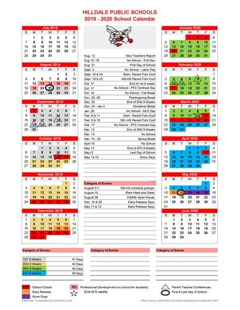 hilldale public schools revised school calendar released