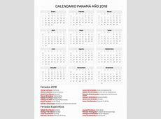 Calendario Panamá Año 2018 Feriados