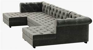 Chesterfield Sofa Modern : rh modern modena chesterfield leather u chaise sectional 3d model max obj 3ds fbx mtl ~ Indierocktalk.com Haus und Dekorationen