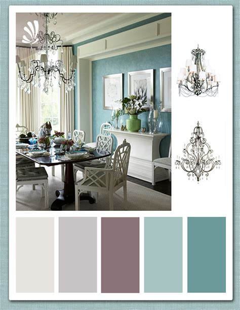 Living Room Dining Room Gray by Teal Plum And Warm Grey Palette From Stylyze Color