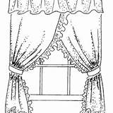 Coloring Curtain sketch template