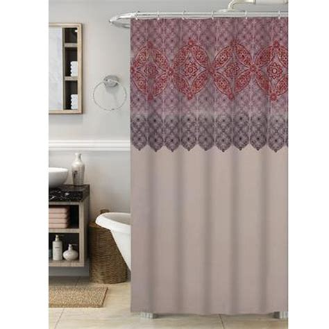 sears shower curtains colormate global shower curtain
