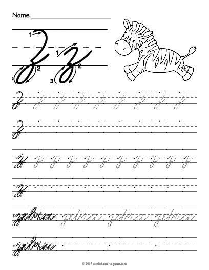 cursive  worksheet
