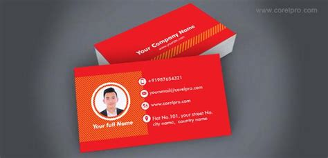 business card templatered corelpro business cards