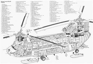 Chinook Helicopter Diagram Schematic Glossy Poster Picture