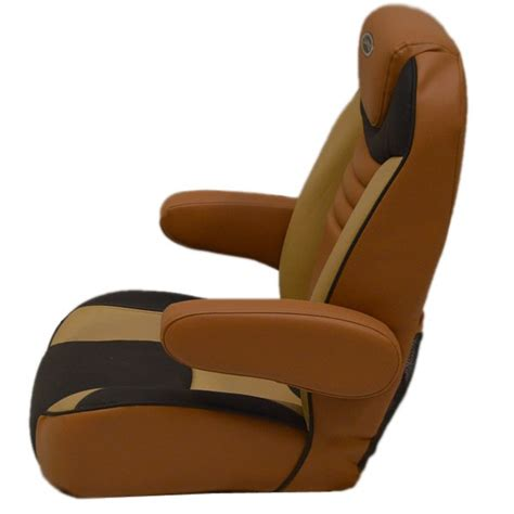 Captains Chair For Lund Boat by Lund Terra Cotta Beige Reclining Vinyl Boat Captains
