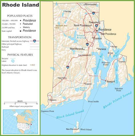 rhode island highway map
