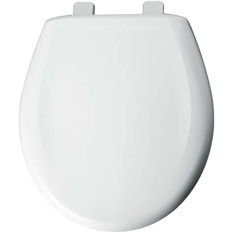 Bemis Round Closed Front Toilet Seat With Cover In White