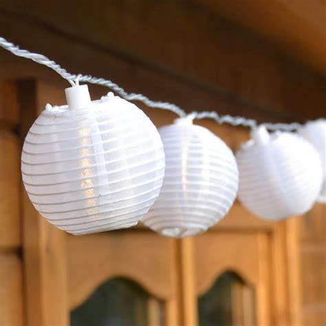 Led Lichterkette Mit 20 Lampions Innen Und Außen