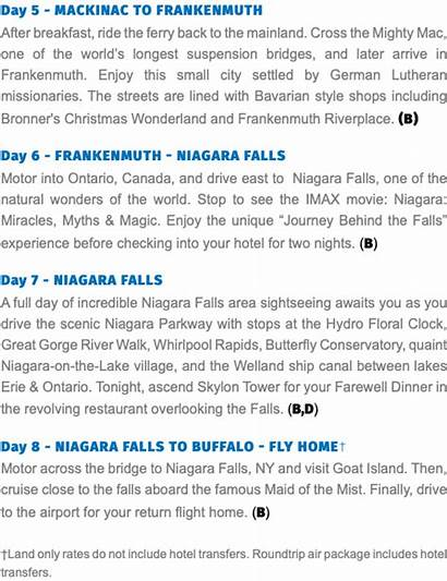 Island Mackinac Grand Niagara Falls Wonders Walk