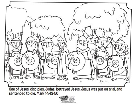 jesus  betrayed  judas bible coloring pages whats