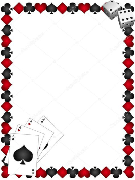 playing cards  border stock photo  lina