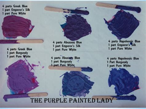 what to colors make purple mixing chalk paint 174 colors to make purples the purple