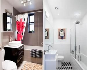 comment agrandir la petite salle de bains 25 exemples With carrelage adhesif salle de bain avec douchette couleur led