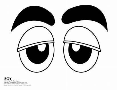 Face Costume Faces Eyes Candy Template Boy