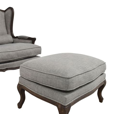 grey chair and ottoman 71 off restoration hardware restoration hardware grey