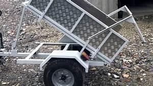 Fabriquer Une Remorque : remorque quad basculante avec un treuil 12v youtube ~ Maxctalentgroup.com Avis de Voitures