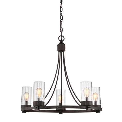 clear glass chandelier filament design 5 light rubbed bronze chandelier with
