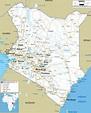 Detailed Clear Large Road Map of Kenya - Ezilon Maps