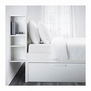 Cadre Lit Avec Rangement : brimnes cadre de lit rangement t te de lit 140x200 cm ikea ~ Teatrodelosmanantiales.com Idées de Décoration