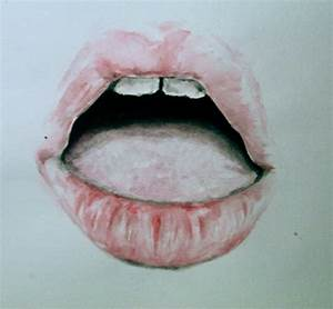 painting lips pink my artwork mouth incanti water colour ...