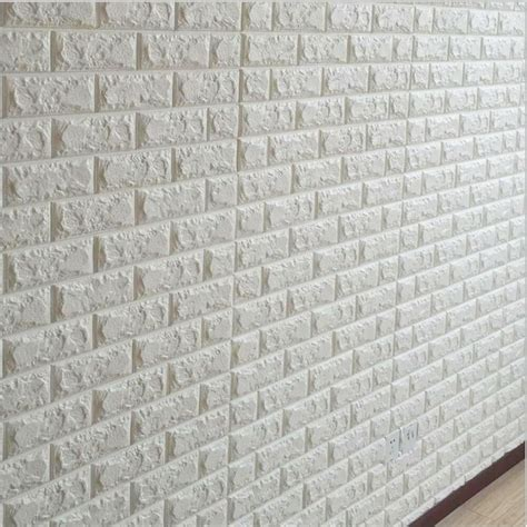 Brick 3d Wallpaper Sticker by White 3d Embossed Brick Wall Sticker Decal