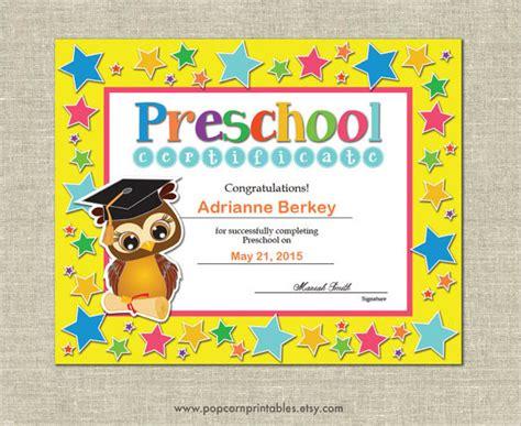 20 graduation certificates psd word ai indesign 355 | Preschool Graduation Certificate Template