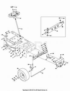 Mtd 13ax795s004  2015  Parts Diagram For Front End Steering
